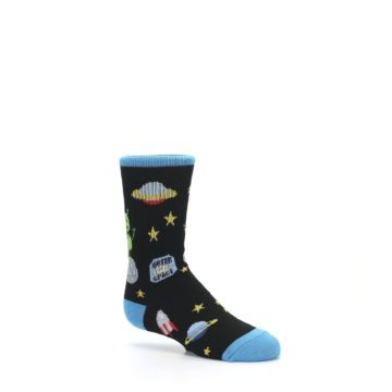 Image of Black Outer Space Kid's Dress Socks (side-1-26)