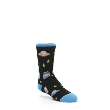 Image of Black Outer Space Kid's Dress Socks (side-1-27)