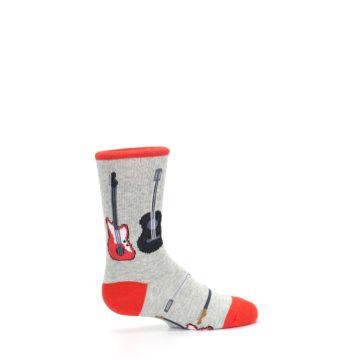 Image of Gray Red Black Guitars Kid's Dress Socks (side-1-24)
