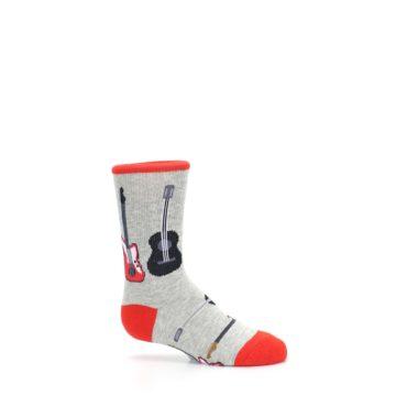 Image of Gray Red Black Guitars Kid's Dress Socks (side-1-25)