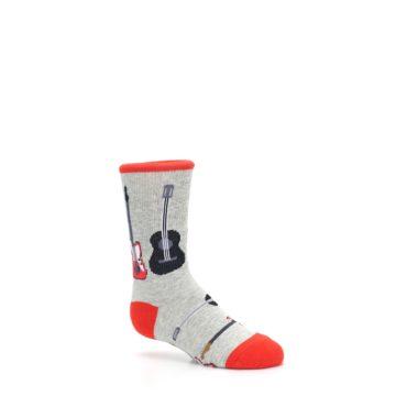Image of Gray Red Black Guitars Kid's Dress Socks (side-1-26)