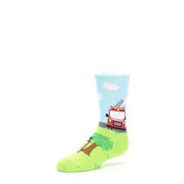 Image of Cat Rescue Fireman Kid's Dress Socks (side-2-09)