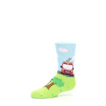 Image of Cat Rescue Fireman Kid's Dress Socks (side-2-10)
