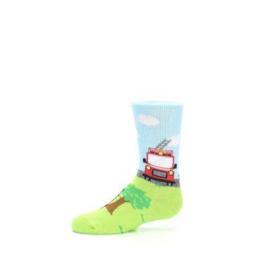 Image of Cat Rescue Fireman Kid's Dress Socks (side-2-11)