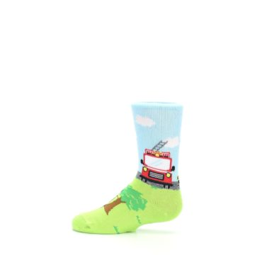 Image of Cat Rescue Fireman Kid's Dress Socks (side-2-12)