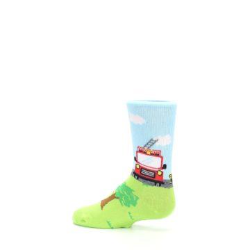 Image of Cat Rescue Fireman Kid's Dress Socks (side-2-13)