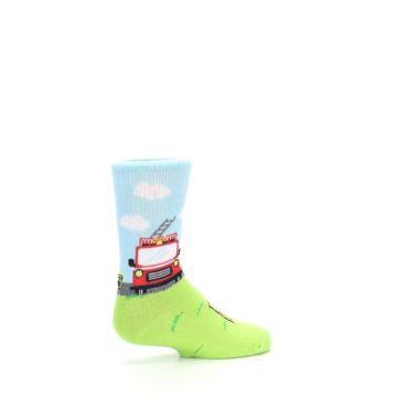 Image of Cat Rescue Fireman Kid's Dress Socks (side-1-23)