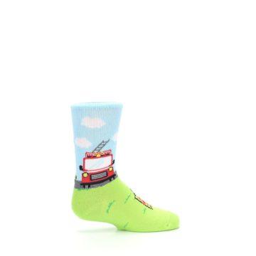 Image of Cat Rescue Fireman Kid's Dress Socks (side-1-24)