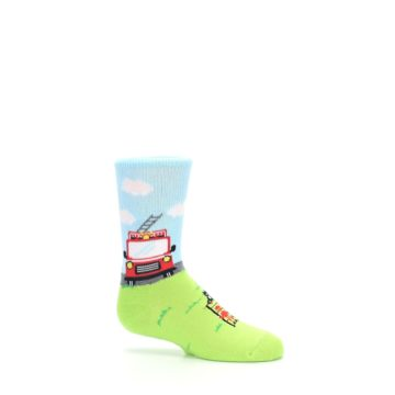 Image of Cat Rescue Fireman Kid's Dress Socks (side-1-25)