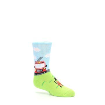 Image of Cat Rescue Fireman Kid's Dress Socks (side-1-26)