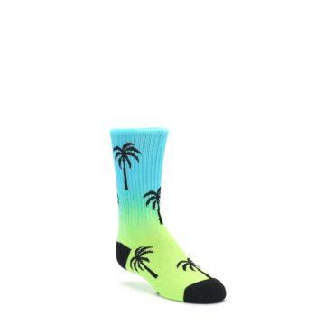 4-9Y-Green-Blue-Palm-Trees-Kids-Dress-Socks-K-Bell