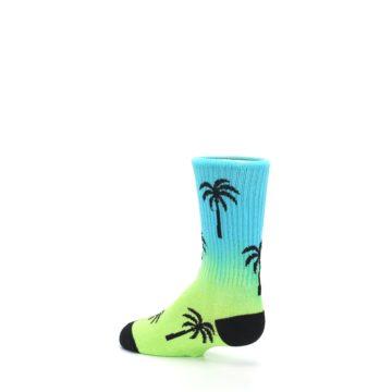 Image of Green Blue Palm Trees Kid's Dress Socks (side-2-back-14)