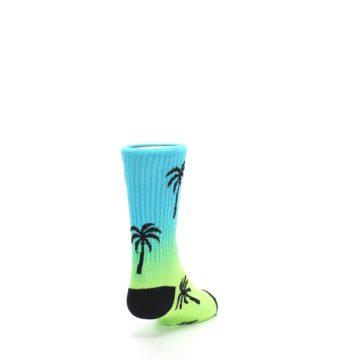 Image of Green Blue Palm Trees Kid's Dress Socks (side-1-back-20)