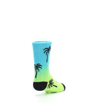 Image of Green Blue Palm Trees Kid's Dress Socks (side-1-back-21)