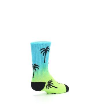 Image of Green Blue Palm Trees Kid's Dress Socks (side-1-back-22)