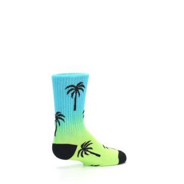 Image of Green Blue Palm Trees Kid's Dress Socks (side-1-23)