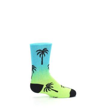 Image of Green Blue Palm Trees Kid's Dress Socks (side-1-24)