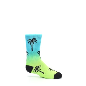 Image of Green Blue Palm Trees Kid's Dress Socks (side-1-25)