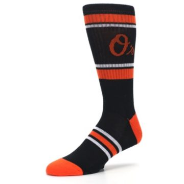Image of Baltimore Orioles Men's Athletic Crew Socks (side-2-09)