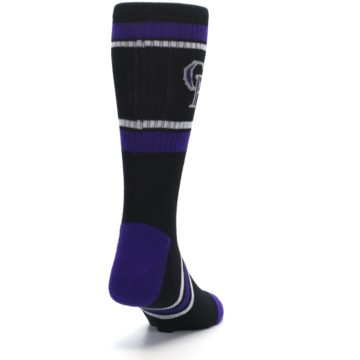 Image of Colorado Rockies Men's Athletic Crew Socks (side-1-back-20)