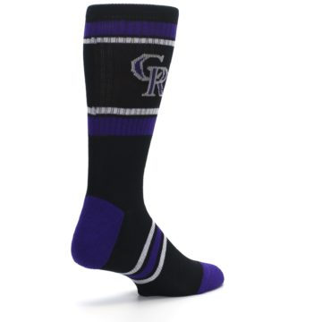 Image of Colorado Rockies Men's Athletic Crew Socks (side-1-back-22)
