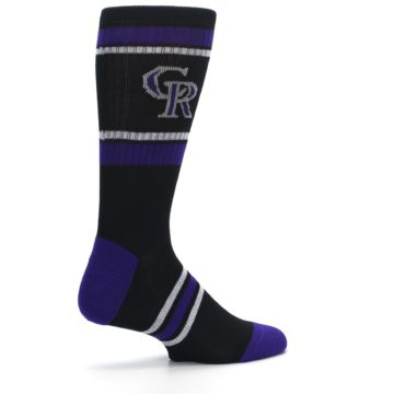 Image of Colorado Rockies Men's Athletic Crew Socks (side-1-23)