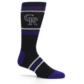 Image of Colorado Rockies Men's Athletic Crew Socks (side-1-25)