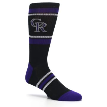 Image of Colorado Rockies Men's Athletic Crew Socks (side-1-26)