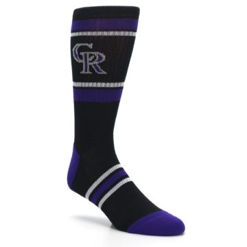 Image of Colorado Rockies Men's Athletic Crew Socks (side-1-27)