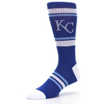 Image of Kansas City Royals Men's Athletic Crew Socks (side-2-09)