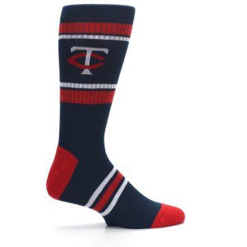 Image of Minnesota Twins Men's Athletic Crew Socks (side-1-24)