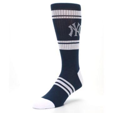 Image of New York Yankees Men's Athletic Crew Socks (side-2-front-08)
