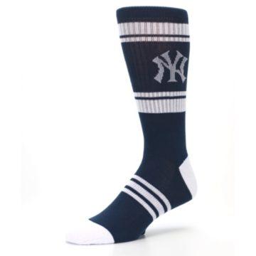 Image of New York Yankees Men's Athletic Crew Socks (side-2-09)