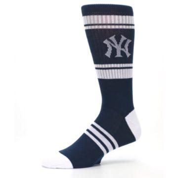 Image of New York Yankees Men's Athletic Crew Socks (side-2-10)