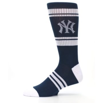 Image of New York Yankees Men's Athletic Crew Socks (side-2-11)