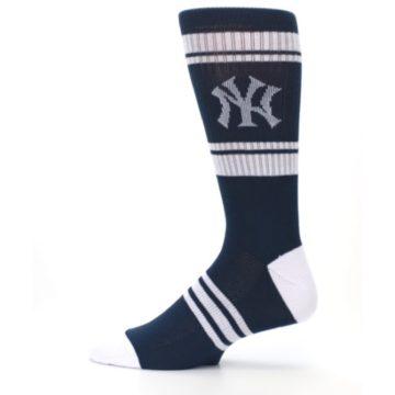 Image of New York Yankees Men's Athletic Crew Socks (side-2-12)
