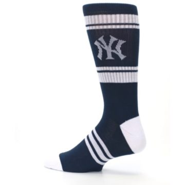 Image of New York Yankees Men's Athletic Crew Socks (side-2-13)