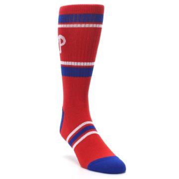 Image of Philadelphia Phillies Men's Athletic Crew Socks (side-1-front-02)