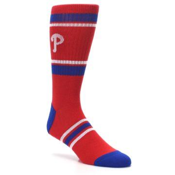Image of Philadelphia Phillies Men's Athletic Crew Socks (side-1-27)