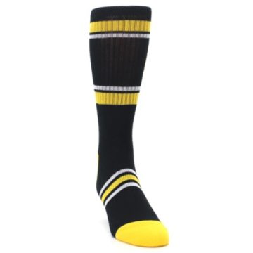 Image of Pittsburgh Pirates Men's Athletic Crew Socks (side-1-front-03)