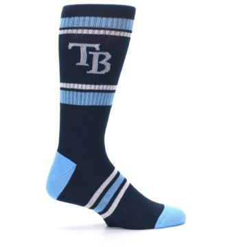 Image of Tampa Bay Rays Men's Athletic Crew Socks (side-1-24)