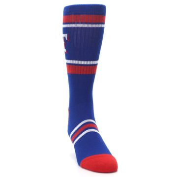 Image of Texas Rangers Men's Athletic Crew Socks (side-1-front-03)