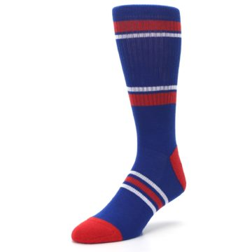 Image of Texas Rangers Men's Athletic Crew Socks (side-2-front-08)