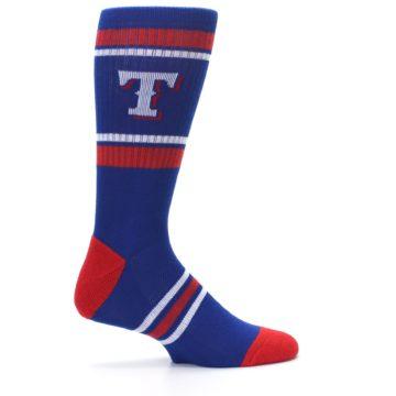 Image of Texas Rangers Men's Athletic Crew Socks (side-1-24)