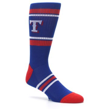 Image of Texas Rangers Men's Athletic Crew Socks (side-1-26)