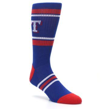 Image of Texas Rangers Men's Athletic Crew Socks (side-1-27)
