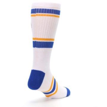 Image of Golden State Warriors Men's Athletic Crew Socks (side-1-back-21)