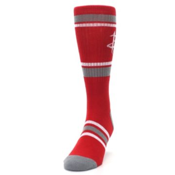 Image of Houston Rockets Men's Athletic Crew Socks (side-2-front-06)