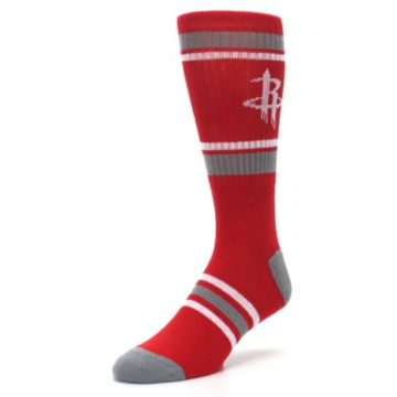 Image of Houston Rockets Men's Athletic Crew Socks (side-2-front-08)