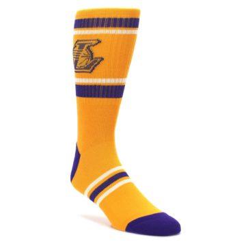 Los-Angeles-Lakers-Mens-Athletic-Crew-Socks-PKWY